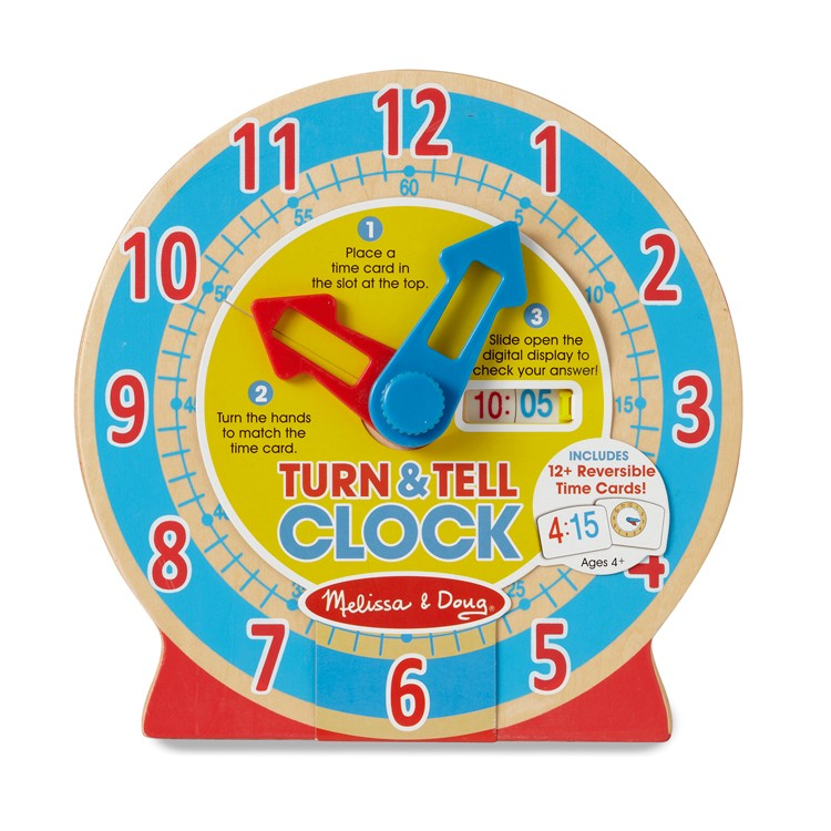 Learn To Tell Time Clock For Kids Educational Toys Planet