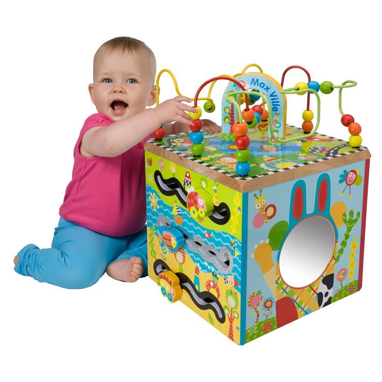 Activity Cube Toy : Maxville toddler activity cube educational toys planet