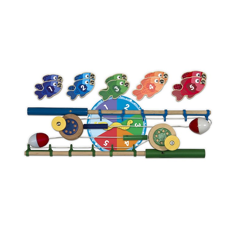 Magnetic fishing game catch count playset educational for Catch and count fishing game