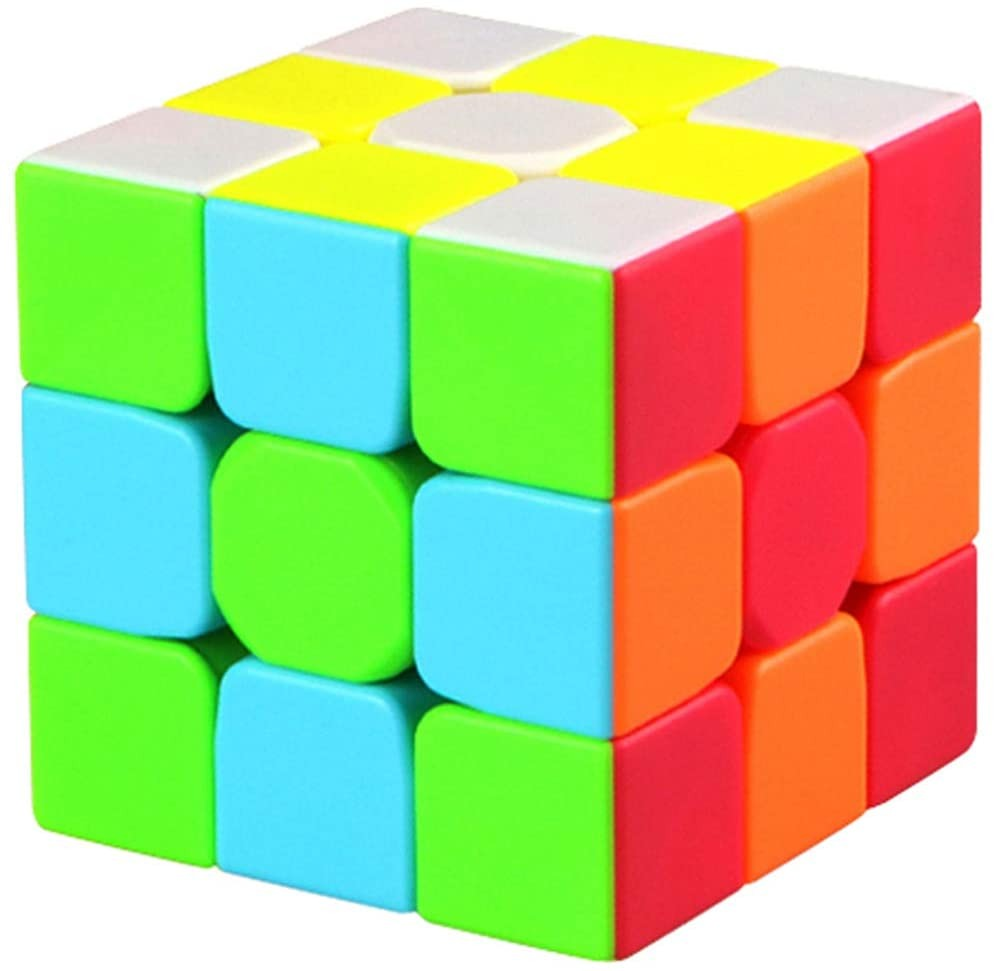 Qiyi Warrior S Speed Cube 3x3- Qiyi Warrior W Updated Version The Most Educational Toy to Effectively Improve Childrens Concentration and responsiveness. - Stickerless Magic Cube 3x3x3 Puzzles Toys