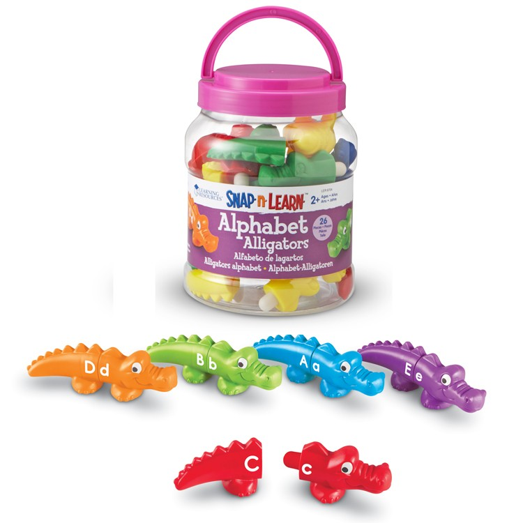 Alphabet Learning Toys : Alphabet alligators uppercase lowercase letter matching