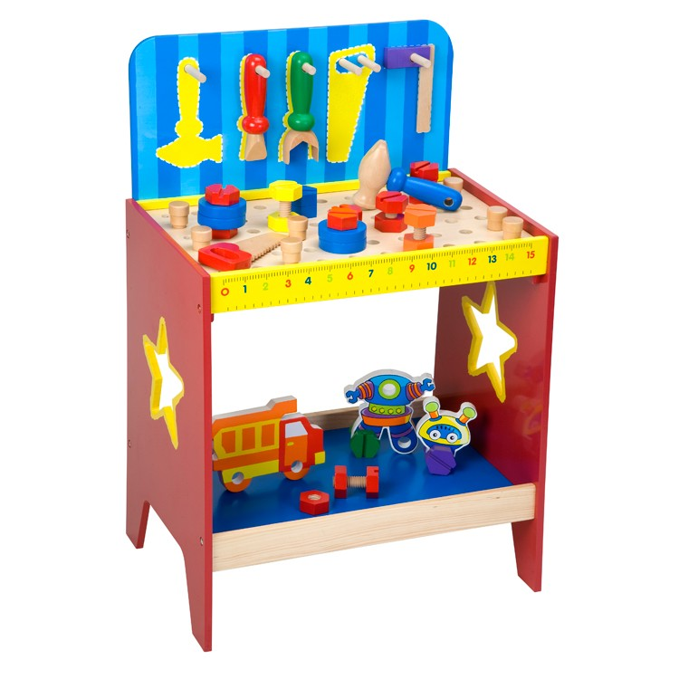 Toys For Work : Children wooden work bench educational toys planet
