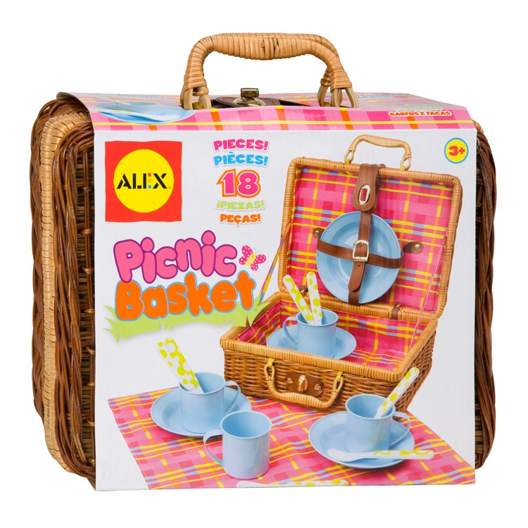 Toy Picnic Basket : Picnic basket pc kids pretend set educational