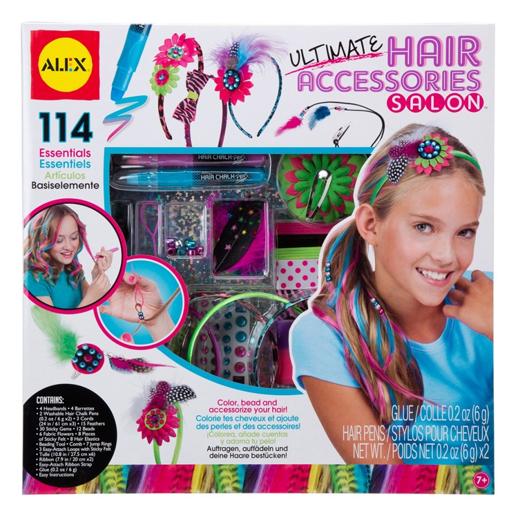 Fashion Nail Salon And Beauty Spa Games For Girls: Ultimate Hair Accessories Salon Deluxe Craft Kit For Girls