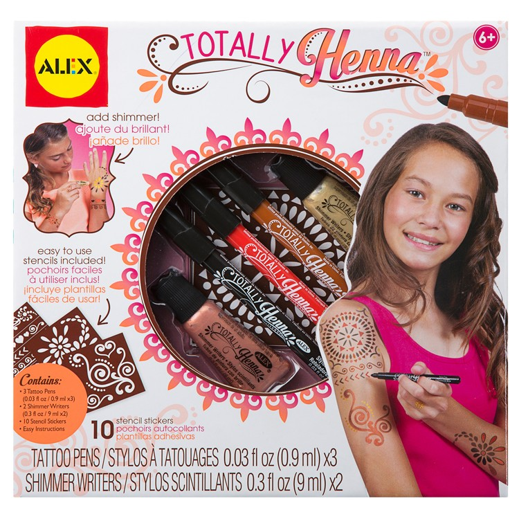 Totally henna tattoo craft kit for girls educational for Arts and crafts for 10 year old girls