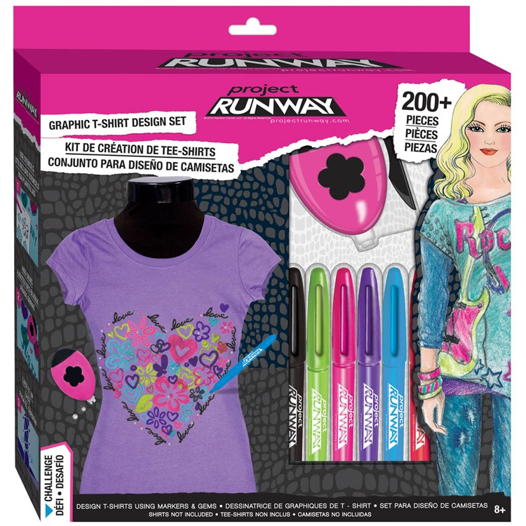 Project Runway Graphics T Shirt Design Studio Set Educational Toys Planet