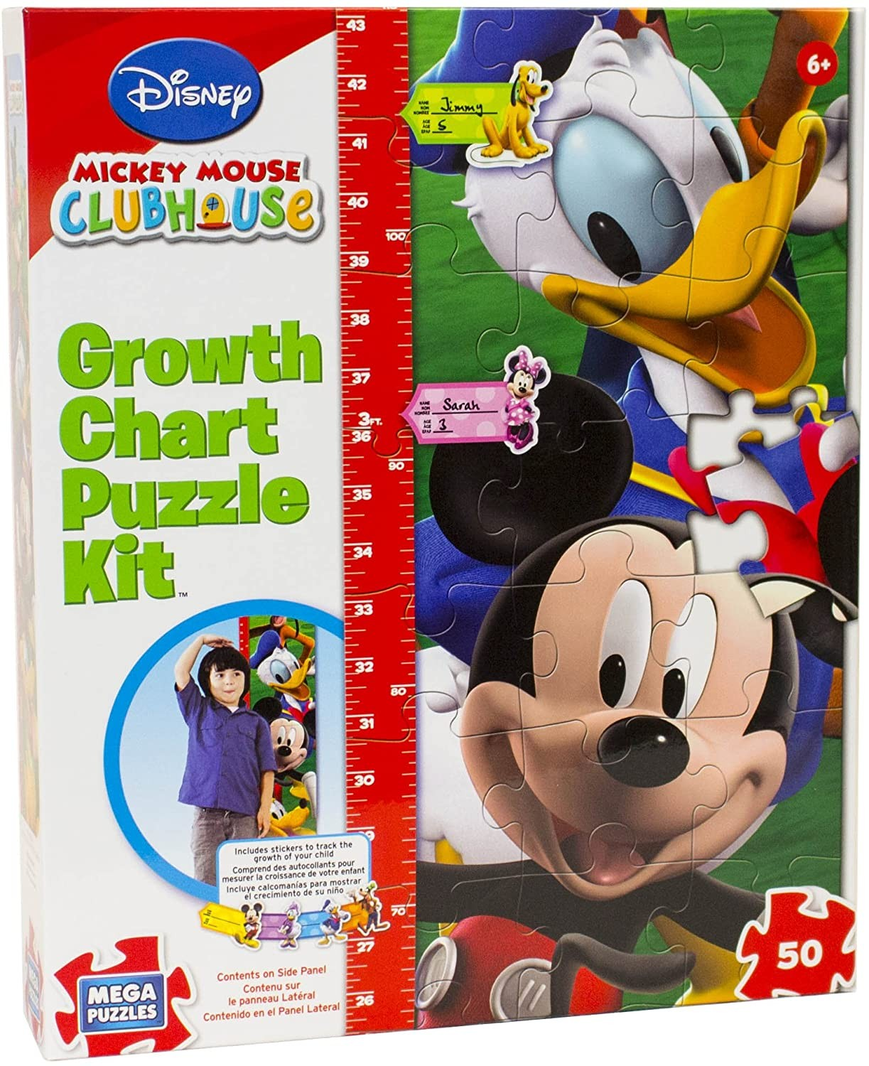 Mickey Mouse Growth Chart Puzzle - Educational Toys Planet