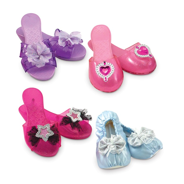 Girls Dress Up Shoes 4 Pairs Play Set - Educational Toys Planet