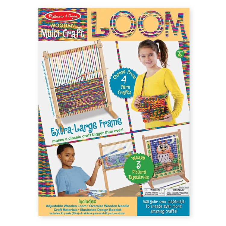 Multi craft weaving loom yarn craft kit educational toys for Jewelry making kit for 4 year old
