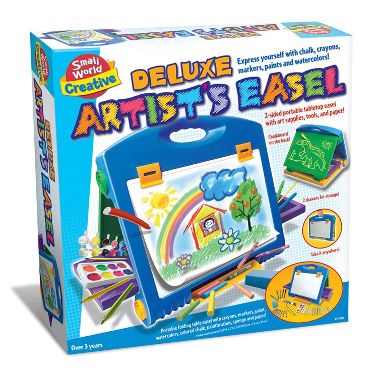 Deluxe Kids Artist Easel With Art Supplies Set.