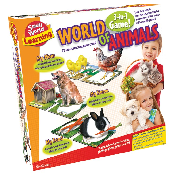 World Of Animals 3 In 1 Learning Games Set