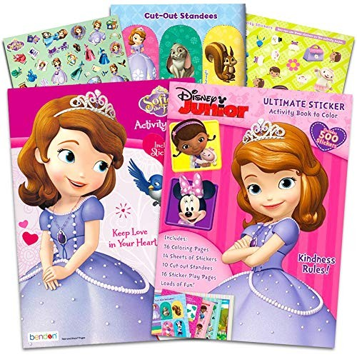 - Disney Coloring Books Set For Kids Toddlers Girls -- 2 Giant And Over 500  Stickers Featuring Princess Sofia The First Minnie Mouse Doc McStuffins  Disney Junior Toys - Educational Toys Planet