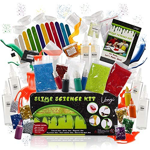 The Ultimate 56 Piece Slime Kit Slime Supplies Includes Non-Borax Slime Glue and Other Slime Ingredients Slime Add Ins EMBRACE PLAY Slime Kit for Girls and Boys Slime Scents