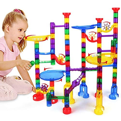Marble Run Toy Marble Maze Race Track Building Block Toy Or Kids 4 5 6 7+Years Old Boys Girls Educational Learning Toy Construction Building Blocks Magnetic Marble Run Set