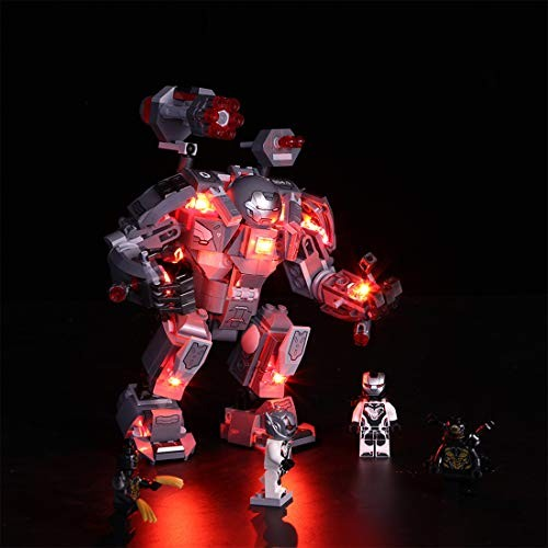 LED Light Kit For LEGO 76124 S Avengers Endgame War Machine Buster lighting set