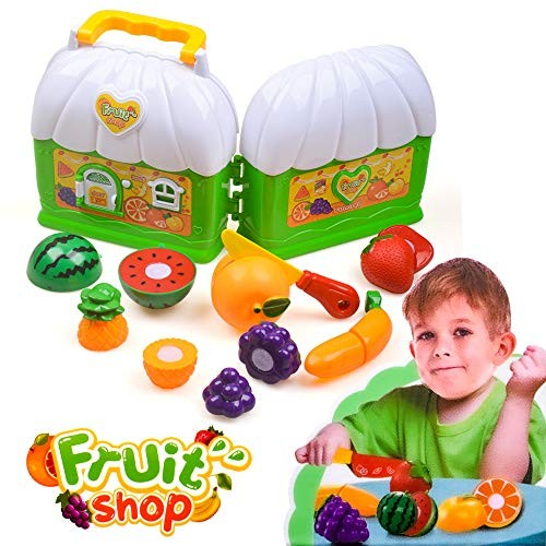 Play Food Set Pretend For 2 8 Year Old Child Cutting Fruit Storage Toddlers 3 Years Toys Kitchen Accessories Ages 2 10 Boy Girl Educational Playset Learning Resources Gifts Educational Toys Planet