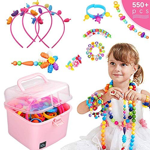 550Pcs Pop Beads - DIY Jewelry Making Kit for Toddlers 4 5 ...