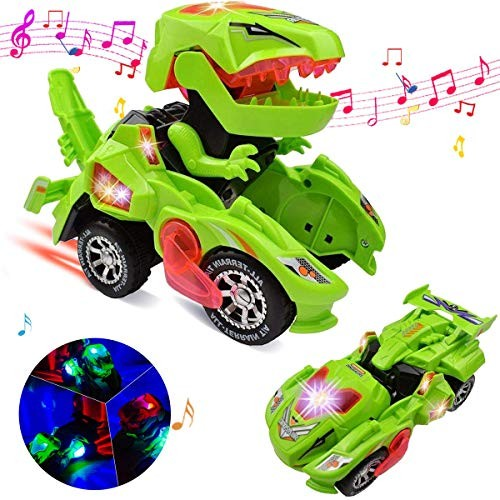 Transforming Dinosaur LED Car Toys Christmas Birthday Gifts for 3-11 Year  Old Boys Girls - Educational Toys Planet
