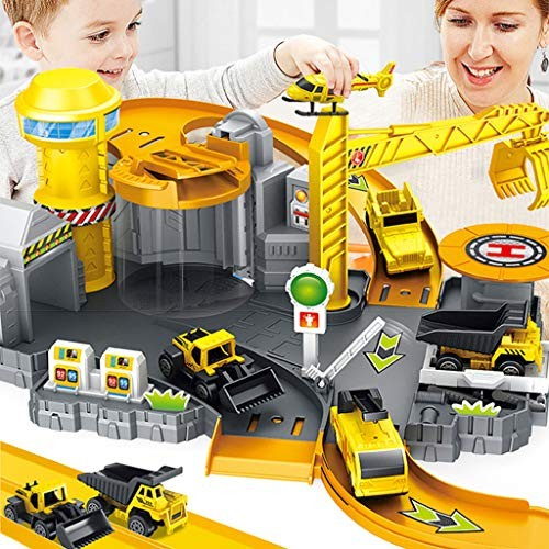 Parking Lot Car Garage Playset Vehicle Toy Play Construction Toy Educational Toy