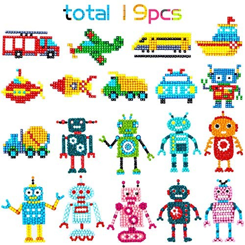 10PCS 5D Diamond Painting Kits for Kids Princess Diamond Painting Stickers Paint with Rhinestones DIY Mosaic Sticker Craft Set for Children and Adults