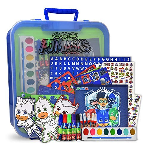 Mess Free Coloring Activities 24 Color Dual Tip Brush Marker Pens /& Police Station Theme Pre Drawn Cardboard Art and Craft Kits Coloring Craft Toy