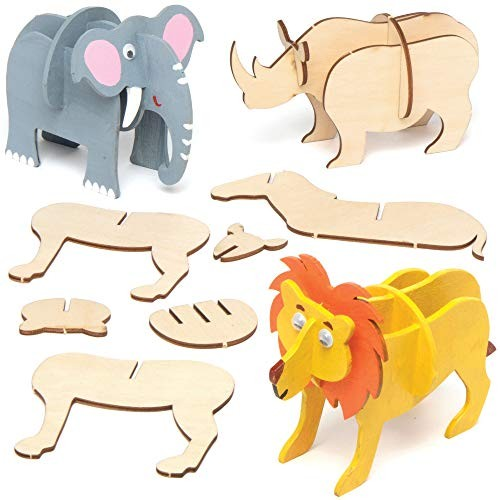 Pack of 4 Baker Ross AC515 Gem Art Kits for Children to Make Decorate and Display