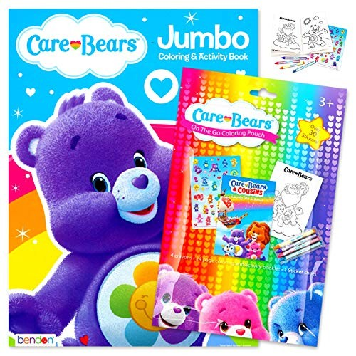- Care Bears Coloring Book Pack Bundle Includes Stickers Crayons And Activity  For Kids Harmony Bear - Educational Toys Planet