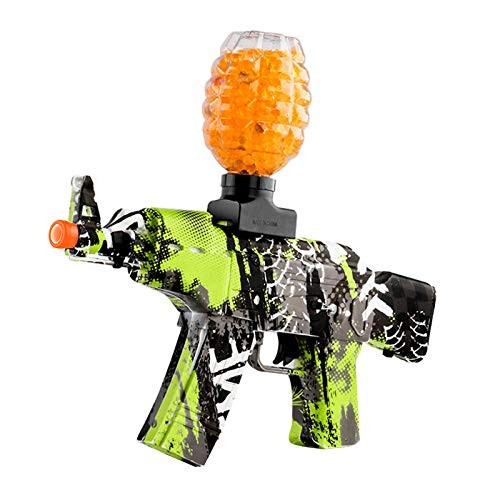 Anstoy Electric with Gel Ball Blaster AEG for Outdoor Activities-Fighting Shooting Team Game Graffiti Blue