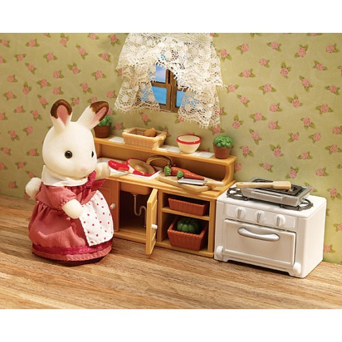 Calico Critters Kitchen | Calico Critters Deluxe Kitchen Set Educational Toys Planet