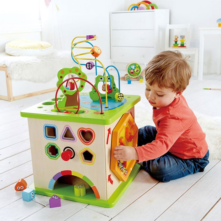 Toddler Educational Toys : Country critters multi activity toddler play cube