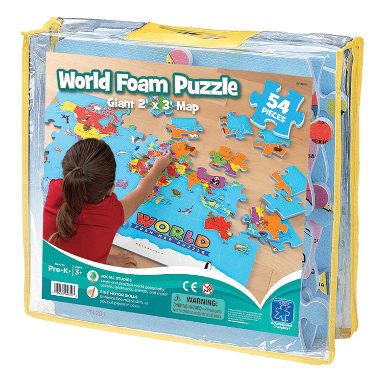 World Map Foam Puzzle Educational Toys Planet - World map puzzle