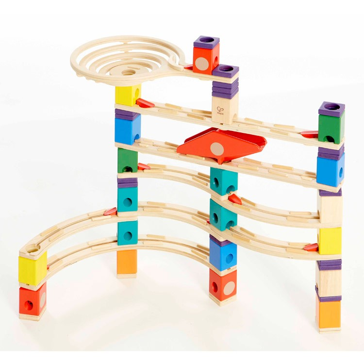 Marble Toys For Boys : Xcellerator quadrilla pc wooden marble run