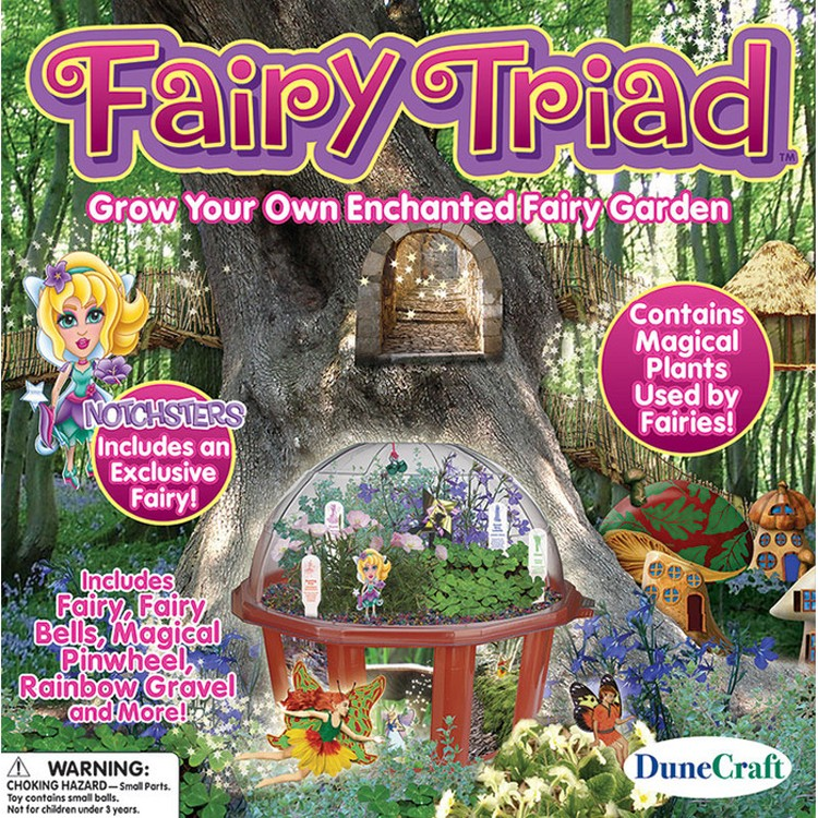 Fairy Triad Garden Terrarium Dome Plant Kit.