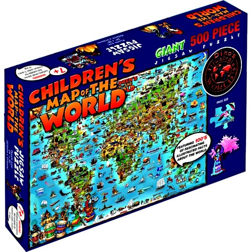 Children map of the world 500 pc illustrated puzzle educational children map of the world 500 pc illustrated puzzle gumiabroncs Images
