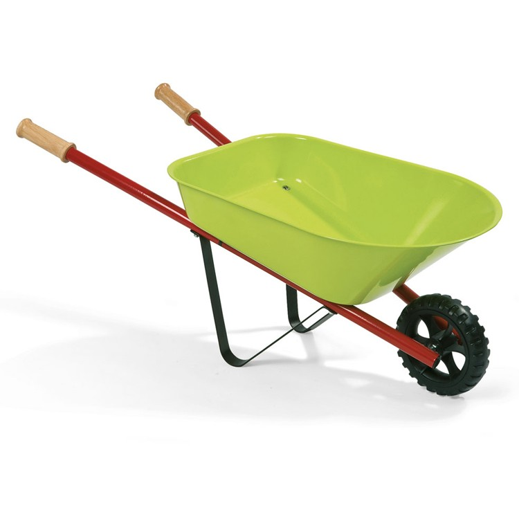 Kids metal wheelbarrow 3 pc garden tools set educational for Professional gardening tools