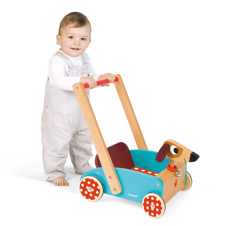 Push Toys For Toddlers : Crazy doggy toddler push cart educational toys planet