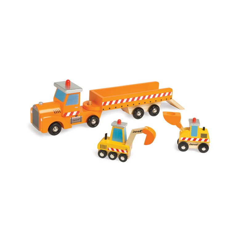 Construction Site Toys For Boys : Story construction site wooden truck educational toys planet