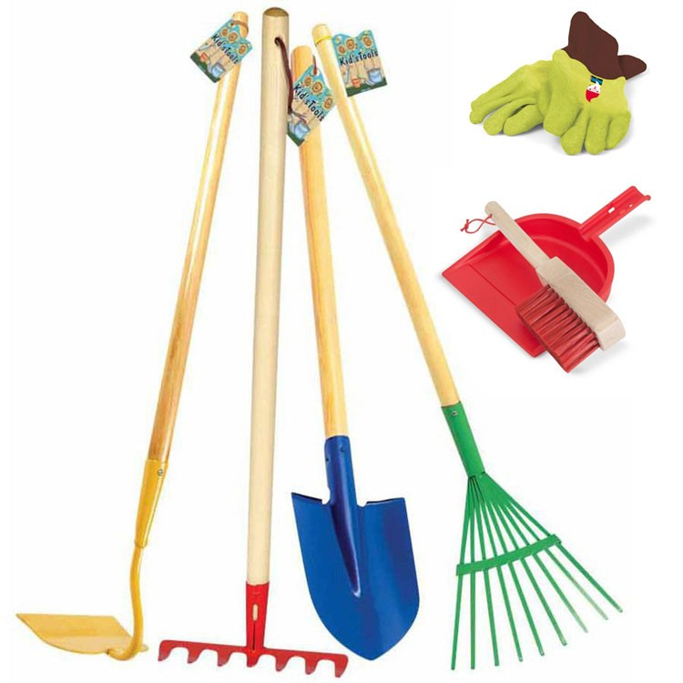 Kids indoor outdoor cleanup play set house chores for Gardening tools for 6 year old