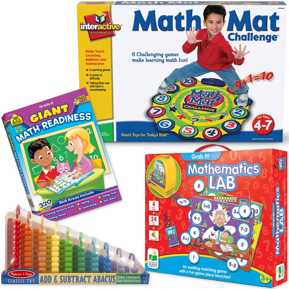 Math Skills, Addition, Subtraction Learning Toys Set For 3