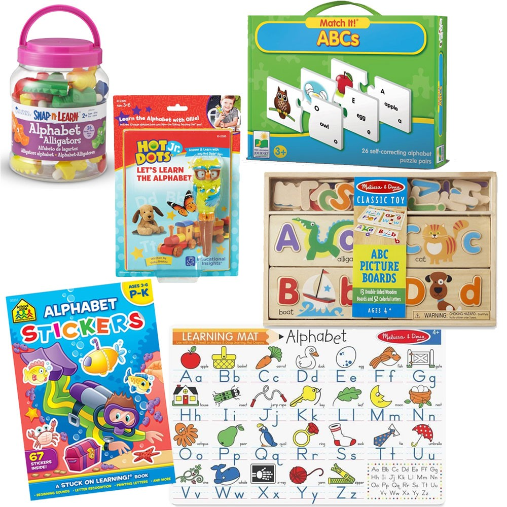 Abc Learning Toys : Alphabet learning preschool toys games kit educational