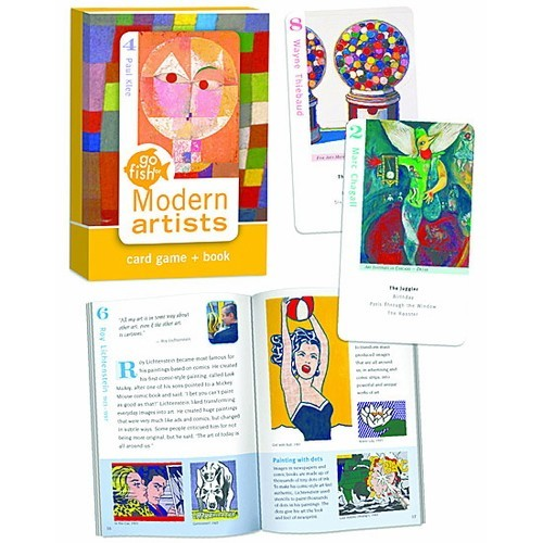 Modern artists go fish card game book educational toys for Fish card game