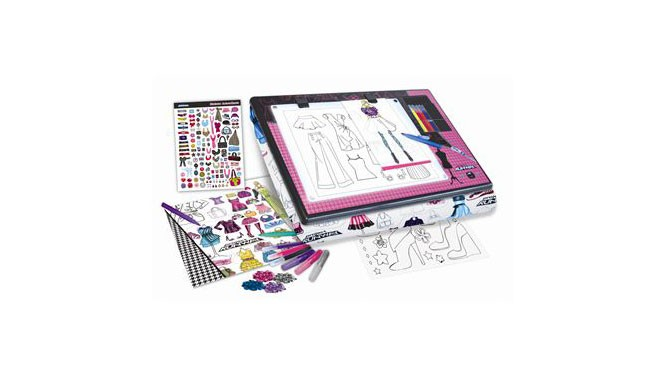 Project Runway Fashion Design Light Box Lap Desk Craft Set Educational Toys Planet