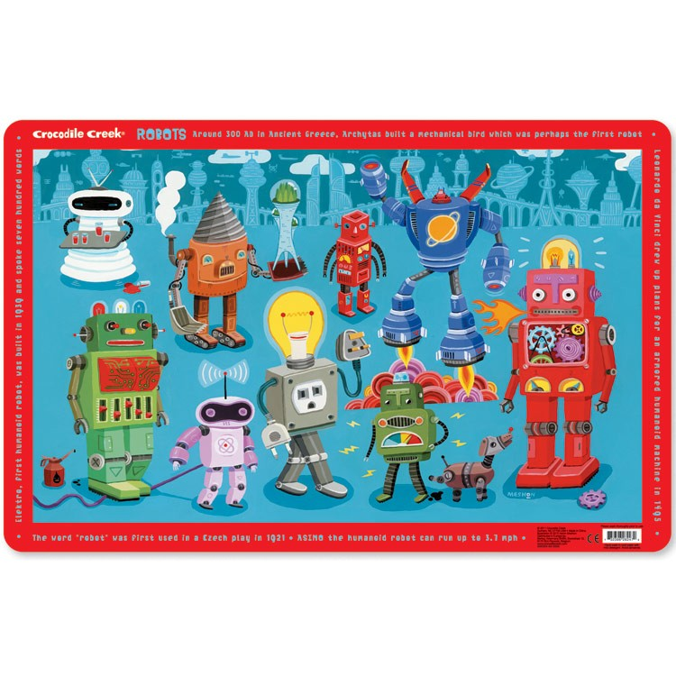 Robots Educational Placemat For Kids Educational Toys Planet