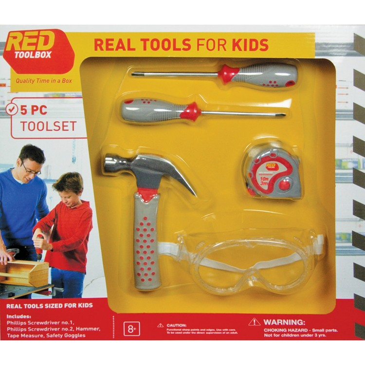 Kids 5 Pc Real Tools Toolset Educational Toys Planet