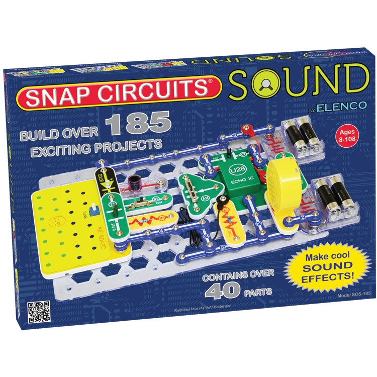snap circuits sound electronic science kit educational toys planet rh educationaltoysplanet com electronic snap circuits amazon electronic snap circuits kits