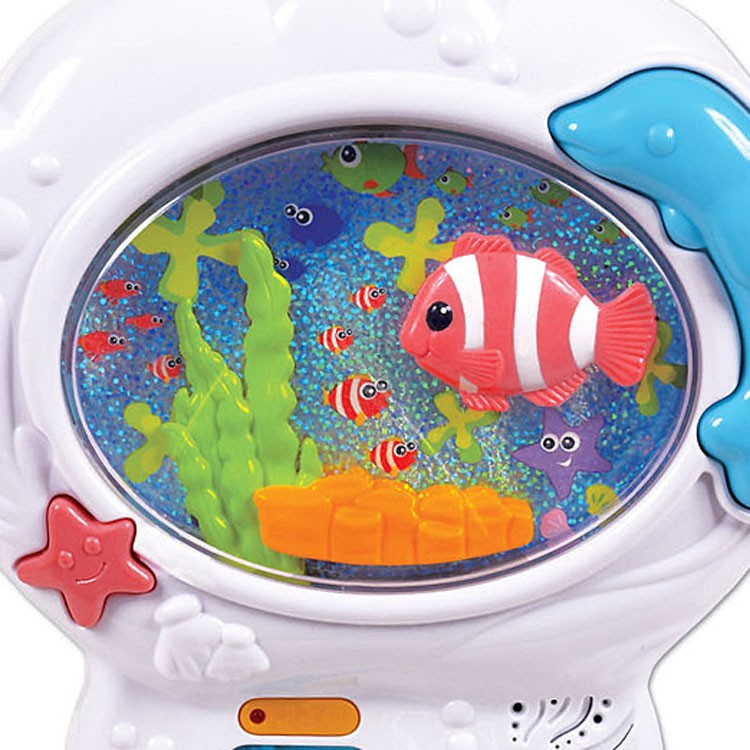 Musical fish tank baby soother crib toy educational toys for Toddler fish tank