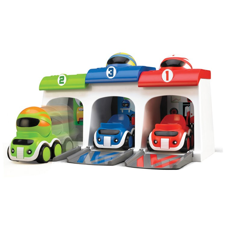 Race Cars Garage Toddler Activity Playset Educational Toys Planet