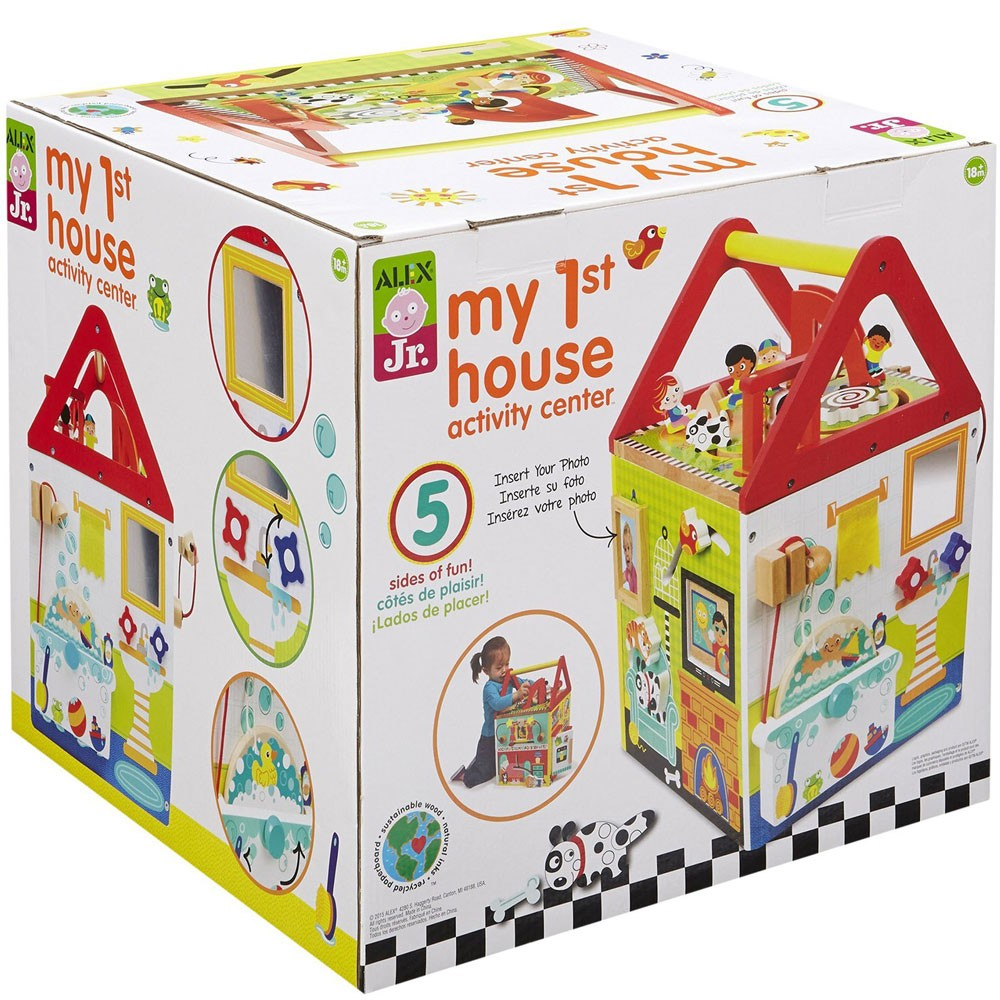 My First House Wooden Activity Center - Educational Toys ...