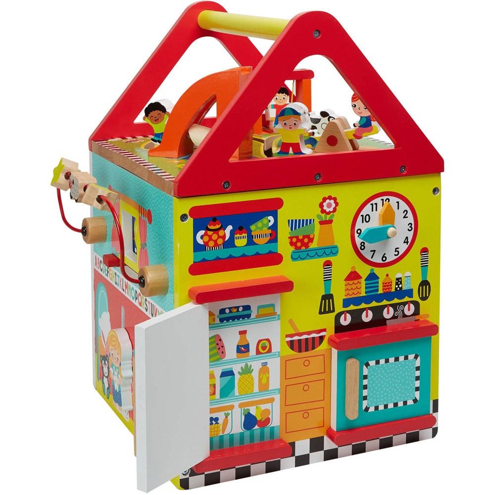 Toys For Activity : My first house wooden activity center educational toys