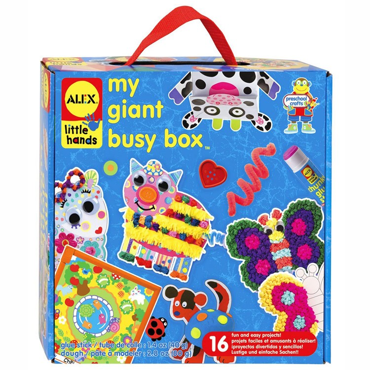 My giant busy box arts crafts kit educational toys planet for Arts and crafts toys for 4 year olds